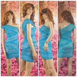 Bebe Blue Lace Dress